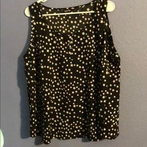 Black with White Stars Tank Top